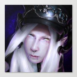 Humanoid Black Dragon Canvas Print