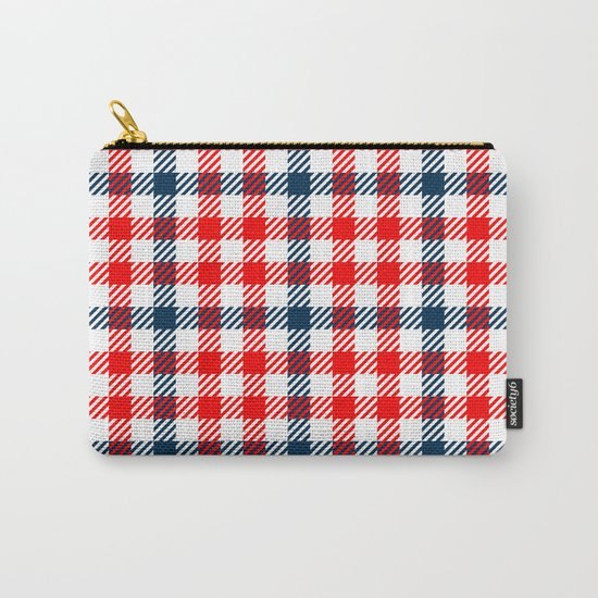 Red & Blue Gingham Pattern Carry-All Pouch