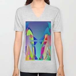 Total hidden pattern Unisex V-Neck