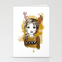 hippie Stationery Cards featuring Hippie by Janreh