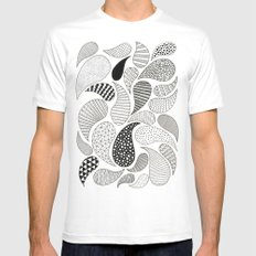 Paisley White Mens Fitted Tee MEDIUM
