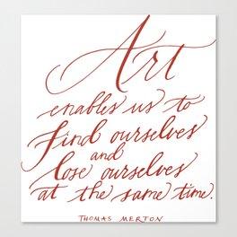 Thomas Merton (Calligraphy) Canvas Print
