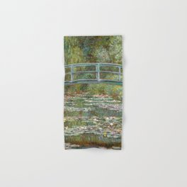 Monet, Water Lilies and Japanese Bridge, 1854 Hand & Bath Towel