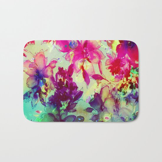 luminous bouquet Bath Mat