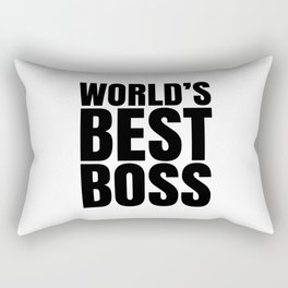 WORLD'S BEST BOSS Rectangular Pillow