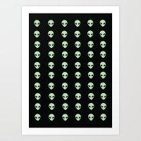 aliens Art Prints featuring Aliens  by gracekansai