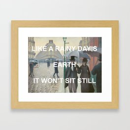 Paris Control Framed Art Print