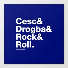 Cesc & Drogba & Rock & Roll (Chelsea) Canvas Print