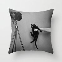 oz Throw Pillows featuring Oz by Emily Mislak