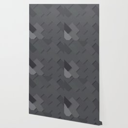 Grey/gray pattern, layered like shingles, tiles or those paint swatches you just cannot choose from! Wallpaper