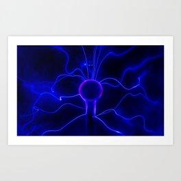 Blue Lightnings Art Print