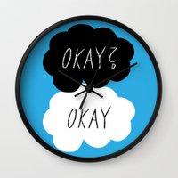 okay Wall Clocks featuring Okay? Okay by Lola