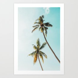 Palm Tree Beach Summer Art Print
