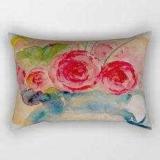 Flowers in a blue vase Rectangular Pillow