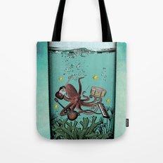 Musical Octopus Print Tote Bag
