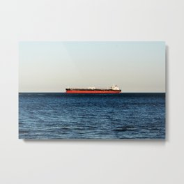 Cargo Ship Seascape Metal Print