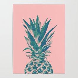 Blush Pineapple Dream #3 #tropical #fruit #decor #art #society6 Poster