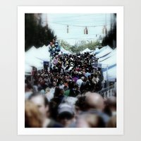 it crowd Art Prints featuring crowd by christian p rockinger