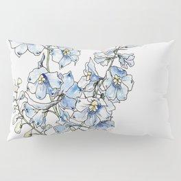 Blue Delphinium Flowers Pillow Sham