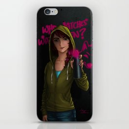 But who watches the watchmen? iPhone Skin