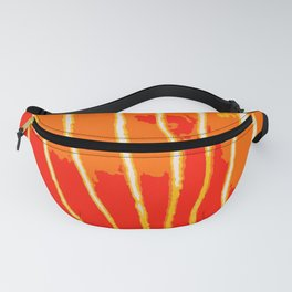 Orange Bongo Stripes Fanny Pack