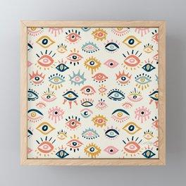Mystic Eyes – Primary Palette Framed Mini Art Print
