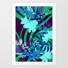 The Flower Journey Art Print