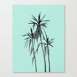 Palm Trees - Mint Cali Summer Vibes #1 #decor #art #society6 Canvas Print