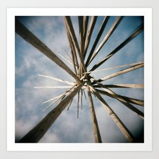 Teepee Top Art Print