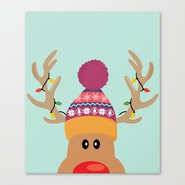 Rudolph Red Nosed Reindeer is looking at you Canvas Print