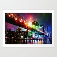 Enchanted New York : Manhattan Bridge Art Print