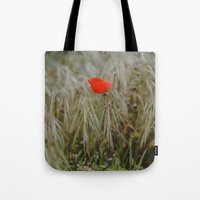 alone Tote Bags featuring Alone by Hello Twiggs