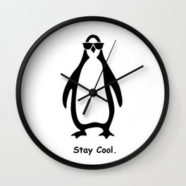 Stay Cool. Penguin Wall Clock