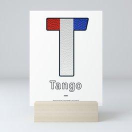 Tango - Navy Code Mini Art Print