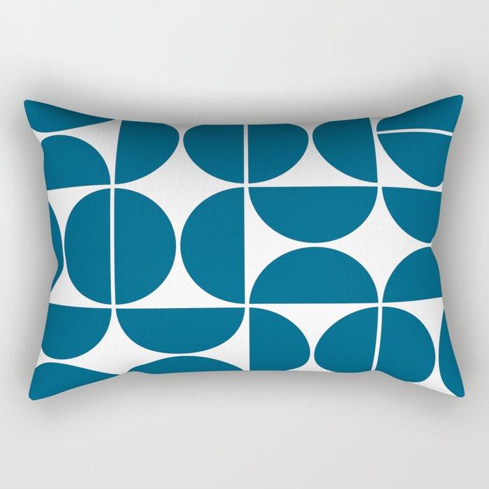 Mid Century Modern Geometric 04 Blue Rectangular Pillow