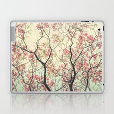Pink Dogwood Tree Branches in Spring Laptop & iPad Skin