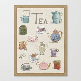 Vintage Teacups and Teapots Canvas Print