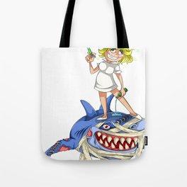 Halloween Nurse Shark Tote Bag