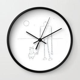 A Girl & Her Robot Wall Clock