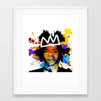 basquiat Framed Art Prints featuring BASQUIAT by SebinLondon