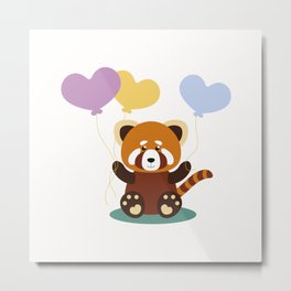 Lovely Red Panda Metal Print