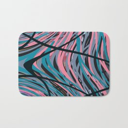 Abstract in Pink and Blues Bath Mat