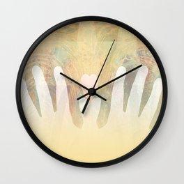 Healing Hands Yellow Wall Clock