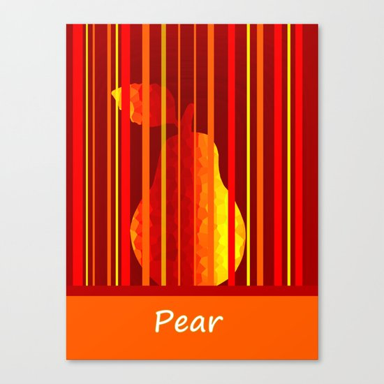 Dramatic Pear Canvas Print