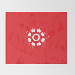 Square Heroes - man of iron Throw Blanket