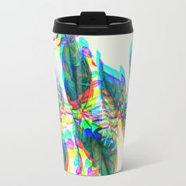 Botanical Flower Glitch III Travel Mug
