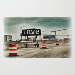 Road Construction Love  Rug