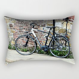 Bicycle Against Red Brick Wall Rectangular Pillow