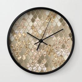 Mermaid Glitter Scales #5 (Faux Glitter) #shiny #decor #art #society6 Wall Clock