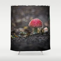 mushroom Shower Curtains featuring mushroom by Kalbsroulade